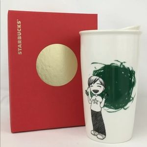 Starbucks 2015 Boy Finger Painting Dot Travel Mug